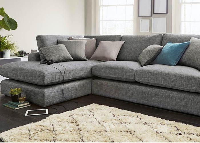 Tapizado sofá con tela estampada